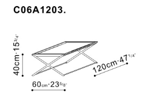 Enzo Coffee Table dimensions