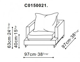 Lazytime Plus Armchair dimensions