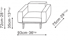 Jane Armchair dimensions