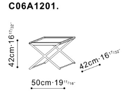 Enzo Side Table dimensions