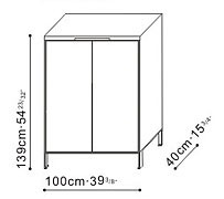 Tall Cupboard / Storage Unit dimensions