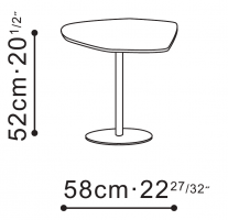 Hanna Tall Side Table dimensions