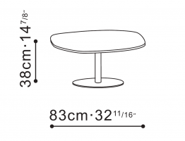 Hanna Coffee Table dimensions