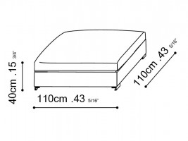Lazytime Ottoman dimensions