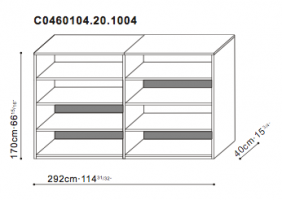 Double Shelving Unit dimensions