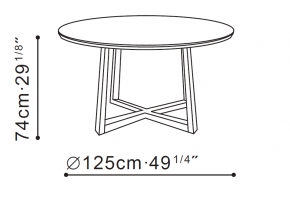Vessel Round Dining Table dimensions