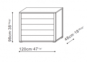 5 Drawer Storage unit dimensions
