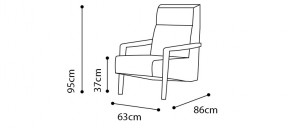 Vast Lounge Chair  dimensions