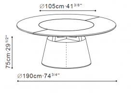 Unity Small Round Table  dimensions