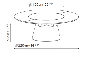 Unity Large Round Table dimensions