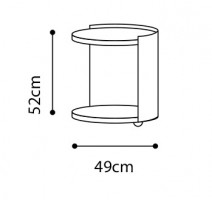 Harmon Side Table dimensions