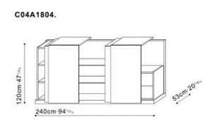 Storage Unit with Sliding Doors dimensions