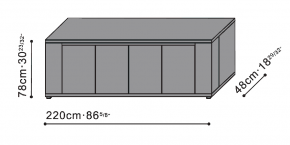 Solo Long Sideboard dimensions