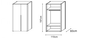 Wardrobe with Low Storage  dimensions