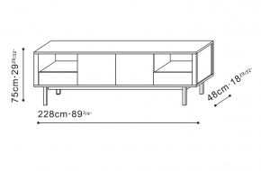 Stilts Sideboard dimensions
