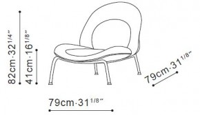 Honey Lounge Chair dimensions