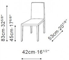 Origin Dining Chair dimensions