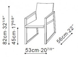 Grid Dining Chair dimensions