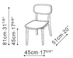 Leaf Dining Chair dimensions