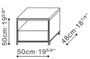 Max Bedside / Side Table with Single Drawer dimensions