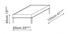 Flamingo Rectangle Coffee Table dimensions