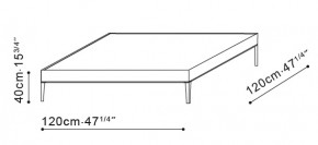 Flamingo Square Coffee Table dimensions