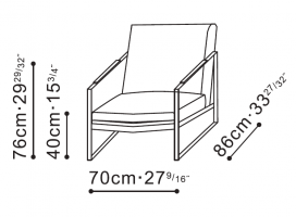 Leman Plus Lounge Chair dimensions