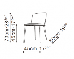 Ballet Dining Chair dimensions