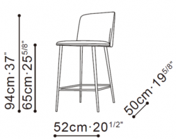 Ballet Counter Stool dimensions