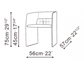 Echo Dining Chair dimensions