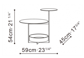 Joy Side Table dimensions