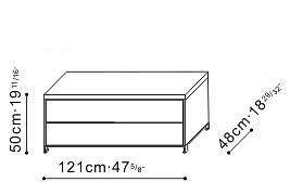 2 Drawer Storage Unit dimensions