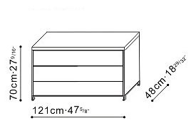 3 Drawer Storage Unit dimensions