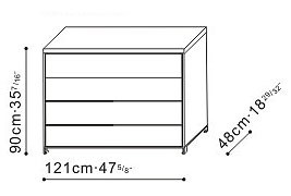 4 Drawer Storage Unit dimensions