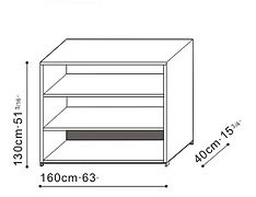 Low Bookcase/Shelving Unit dimensions