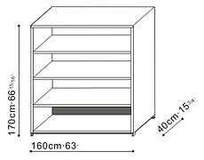 Tall Bookcase/Shelving Unit dimensions