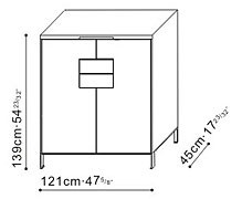 Wide Cupboard/Storage Unit dimensions