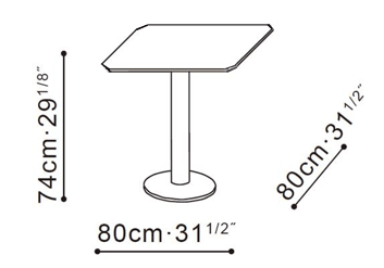 Hanna Square Dining Table dimensions