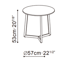 Teri Large Side Table dimensions