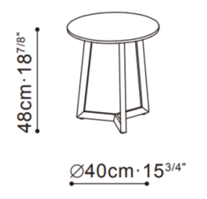 Teri Small Side Table dimensions