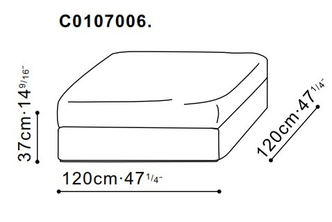 Freetown Large Ottoman dimensions
