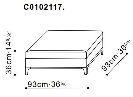Crescent Small Ottoman dimensions