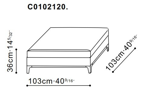 Crescent Large Ottoman dimensions