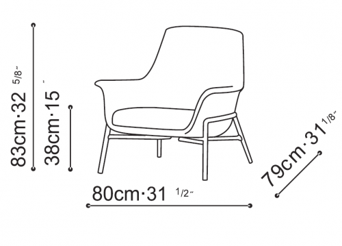 Noble Lounge Chair  dimensions