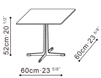 Vary Square Side Table dimensions