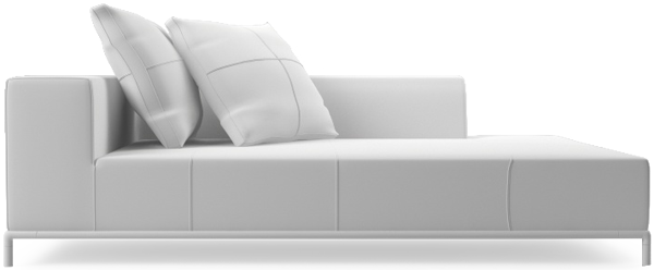 Balance contemporary large chaise sofa