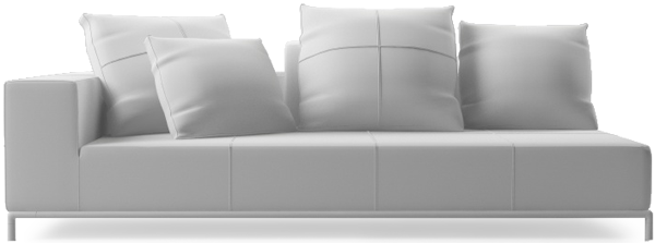 Balance contemporary large sofa section