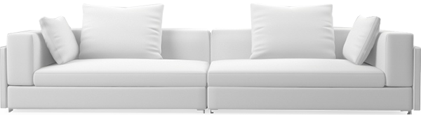 Brooks contemporary narrow straight sofa